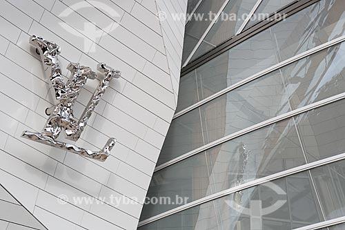 Detalhe da fachada da Fundação Louis Vuitton (2014)  - Paris - Paris - França