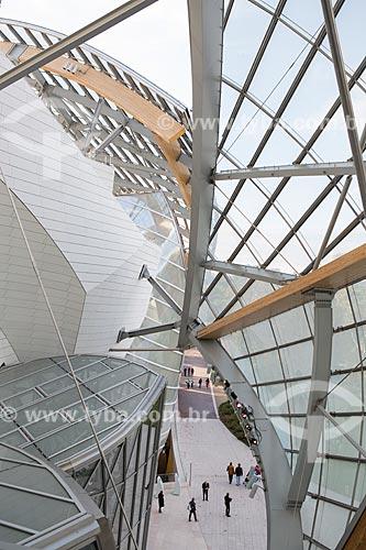 Interior da Fundação Louis Vuitton (2014)  - Paris - Paris - França
