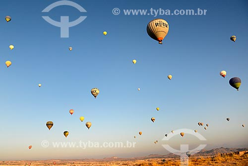 Passeio turístico de balão de ar quente no Vale do Göreme  - Göreme - Província de Nev?ehir - Turquia