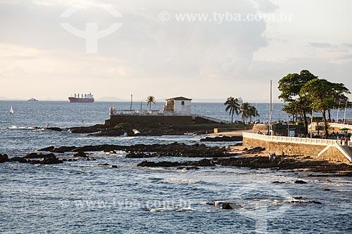Vista do Forte de Santa Maria (1696) a partir do Forte de Santo Antônio da Barra  - Salvador - Bahia (BA) - Brasil