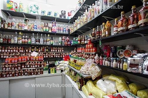 Comércio de produtos típicos no Mercado Modelo (1912)  - Salvador - Bahia (BA) - Brasil