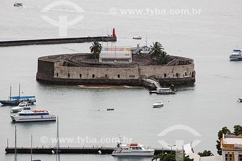 Vista do Forte de São Marcelo (Século XVII) a partir do Elevador Lacerda  - Salvador - Bahia (BA) - Brasil