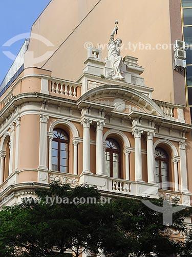 Fachada do Museu da Comunicação Hipólito José da Costa (1922) - antiga sede do Jornal A Federação  - Porto Alegre - Rio Grande do Sul (RS) - Brasil