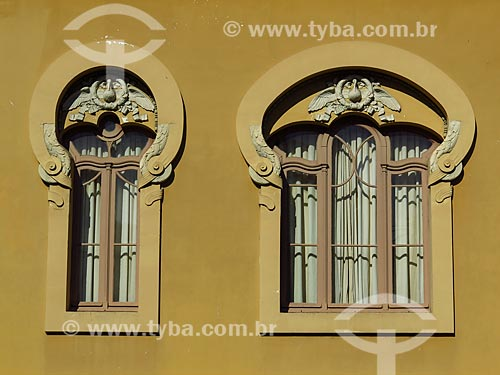 Detalhe da fachada do Observatório Astronômico da Universidade Federal do Rio Grande do Sul - Campus Centro  - Porto Alegre - Rio Grande do Sul (RS) - Brasil