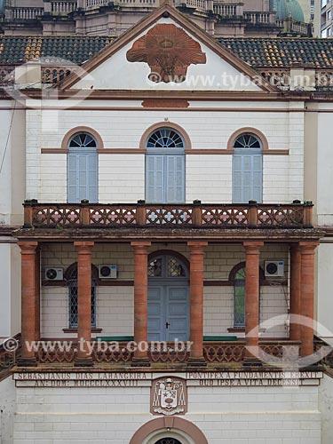 Detalhe da fachada da Cúria Metropolitana de Porto Alegre (1888)  - Porto Alegre - Rio Grande do Sul (RS) - Brasil