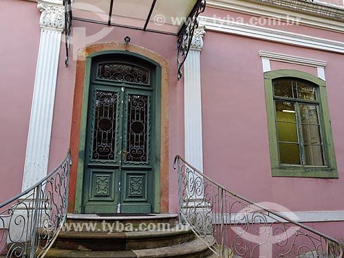 Porta do Solar dos Câmara (1818) - hoje administrado pela Assembléia Legislativa do Estado do Rio Grande do Sul  - Porto Alegre - Rio Grande do Sul (RS) - Brasil
