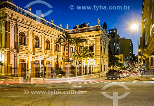 Rua Tenente Silveira com o Palácio Cruz e Sousa - antiga sede do Governo do Estado, atual Museu Histórico de Santa Catarina  - Florianópolis - Santa Catarina (SC) - Brasil