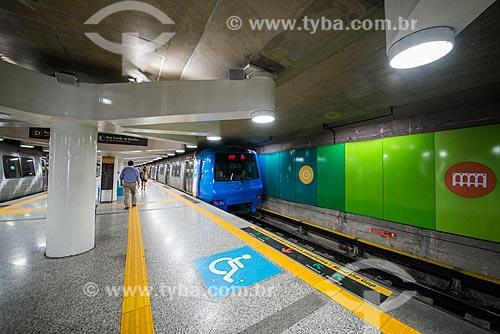Área de embarque de pessoa com deficiência na Estação Uruguai do Metrô Rio - Linha 1  - Rio de Janeiro - Rio de Janeiro (RJ) - Brasil