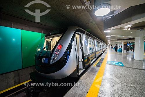 Novo metrô na Estação Uruguai do Metrô Rio - Linha 1  - Rio de Janeiro - Rio de Janeiro (RJ) - Brasil