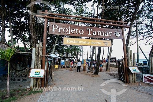 Entrada da sede do Projeto TAMAR  - Mata de São João - Bahia (BA) - Brasil
