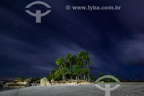 Vista da Ilha da Saudade - entre as 2ª e 3ª Praias durante o anoitecer  - Cairu - Bahia (BA) - Brasil
