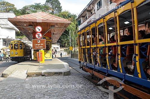 Bonde de Santa Teresa no Largo do Curvelo  - Rio de Janeiro - Rio de Janeiro (RJ) - Brasil
