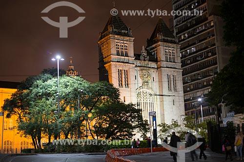 Mosteiro de São Bento - localizado no Largo de São Bento - prédio composto da igreja, mosteiro dos monges beneditinos e escola de Educação Infantil ao Ensino Médio  - São Paulo - São Paulo (SP) - Brasil