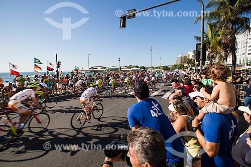 Competição de ciclismo - evento-teste para Jogos Olímpicos - Rio 2016 - na orla da Praia de Copacabana  - Rio de Janeiro - Rio de Janeiro (RJ) - Brasil