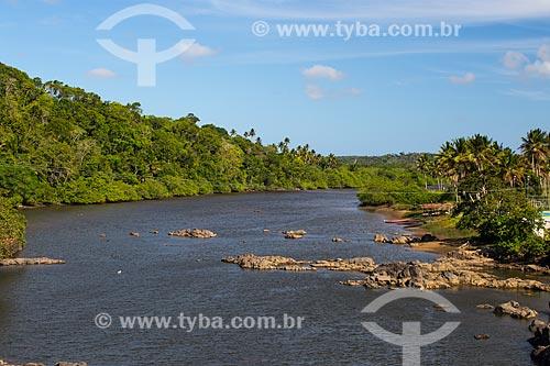 Rio Real, na divisa entre os estados de Sergipe (á direita) e Bahia (á esquerda)  - Indiaroba - Sergipe (SE) - Brasil