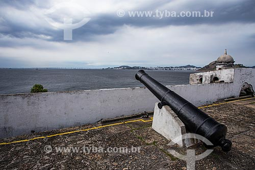 Canhão e posto de observação do Fortaleza de Santa Cruz da Barra (1612)  - Niterói - Rio de Janeiro (RJ) - Brasil
