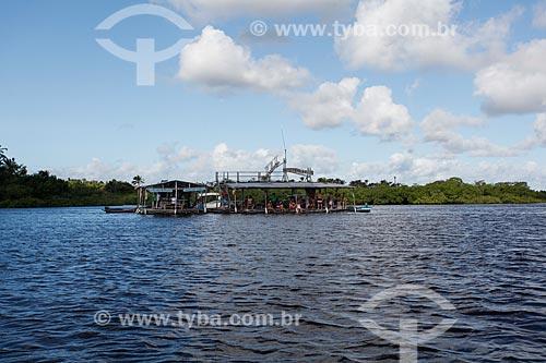 Restaurante fluvial no Rio do Inferno  - Cairu - Bahia (BA) - Brasil