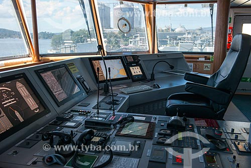 Passadiço de  navio gaseiro  - Rio de Janeiro - Rio de Janeiro (RJ) - Brasil