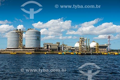 Tanques de armazenamento de gás natural na Ilha Comprida - Terminal Aquaviário Baía de Guanabara (TABG)  - Rio de Janeiro - Rio de Janeiro (RJ) - Brasil