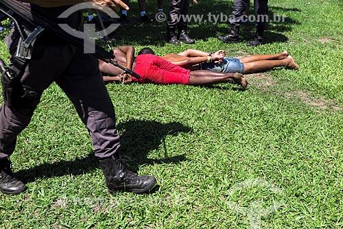 Assaltantes algemados no Aterro do Flamengo  - Rio de Janeiro - Rio de Janeiro (RJ) - Brasil