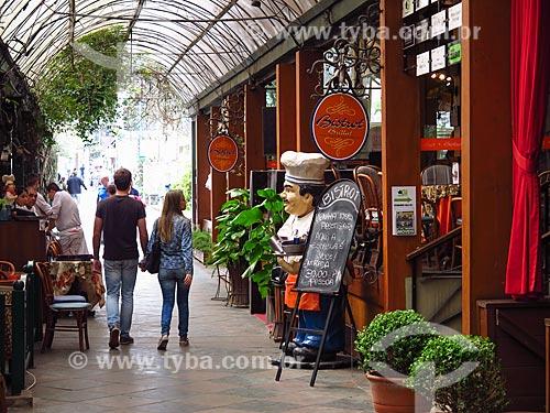 Comércio na Rua Coberta  - Gramado - Rio Grande do Sul (RS) - Brasil