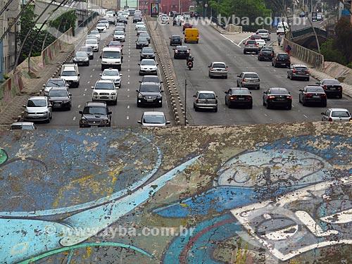 Trânsito na Radial Leste / Oeste  - São Paulo - São Paulo (SP) - Brasil