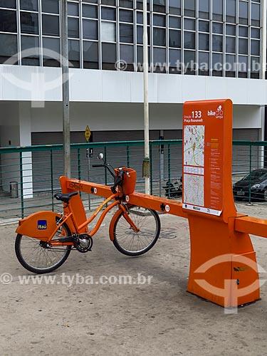 Bicicletas públicas - para aluguel - Praça Franklin Roosevelt  - São Paulo - São Paulo (SP) - Brasil