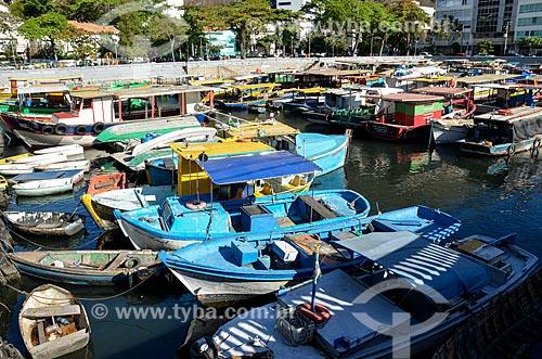 Barcos ancorados no Quadrado da Urca  - Rio de Janeiro - Rio de Janeiro (RJ) - Brasil