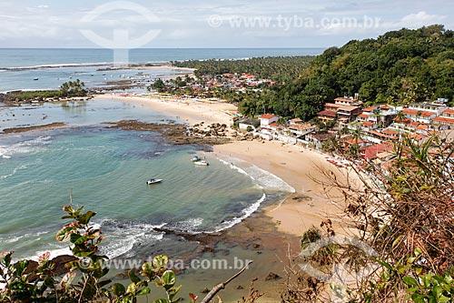 Vista das praias 1ª, 2ª e 3ª a partir do Mirante do Morro de São Paulo  - Cairu - Bahia (BA) - Brasil