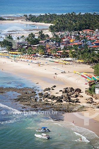 Vista das praias 2ª e 3ª a partir do Mirante do Morro de São Paulo  - Cairu - Bahia (BA) - Brasil