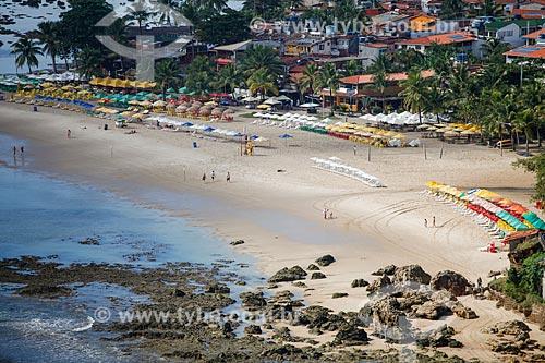 Vista da 2ª praia a partir do Mirante do Morro de São Paulo  - Cairu - Bahia (BA) - Brasil