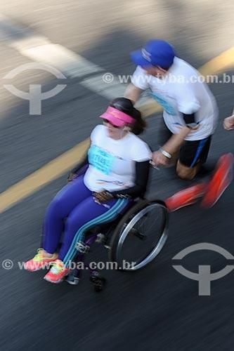 Pessoa com deficiência participando da Meia Maratona Internacional do Rio de Janeiro  - Rio de Janeiro - Rio de Janeiro (RJ) - Brasil