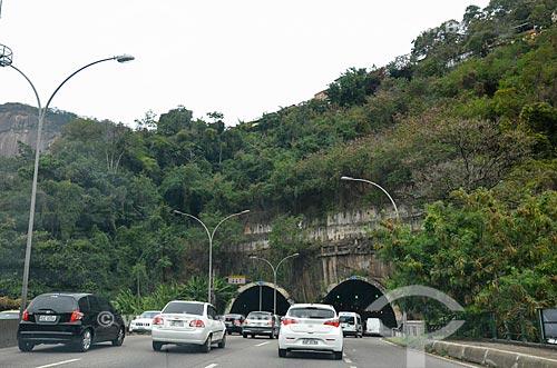Trecho entre as galerias do Túnel Rebouças  - Rio de Janeiro - Rio de Janeiro (RJ) - Brasil