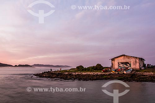 Casa de barcos na Praia da Armação do Pântano do Sul  - Florianópolis - Santa Catarina (SC) - Brasil