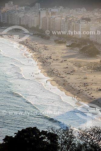 Vista da Praia do Leme e da Praia de Copacabana a partir do Forte Duque de Caxias - também conhecido como Forte do Leme  - Rio de Janeiro - Rio de Janeiro (RJ) - Brasil