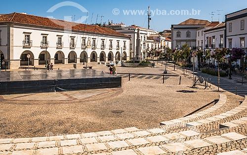 Praça da República na freguesia de Tavira  - Concelho de Tavira - Distrito de Faro - Portugal