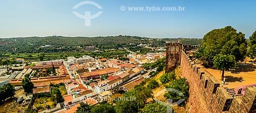 Vista da freguesia de Silves a partir do Castelo de Silves (XIII century)  - Concelho de Silves - Distrito de Faro - Portugal