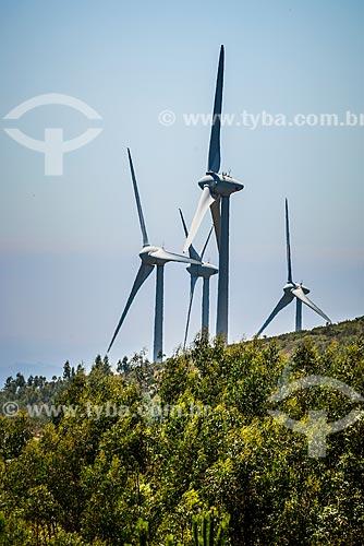 Parque eólico na área de Foiá - parte mais alta da região da freguesia de Caldas de Monchique  - Concelho de Monchique - Distrito de Faro - Portugal
