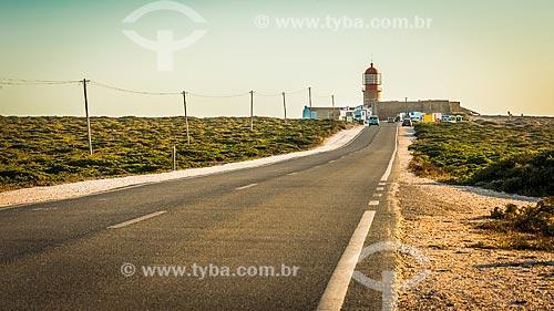 Cabo de São Vicente com o farol ao fundo - parte do Parque Natural do Sudoeste Alentejano e Costa Vicentina  - Concelho de Vila do Bispo - Distrito de Faro - Portugal