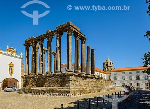 Ruínas do Templo Romano de Évora - também conhecido como Templo de Diana  - Concelho de Évora - Distrito de Évora - Portugal