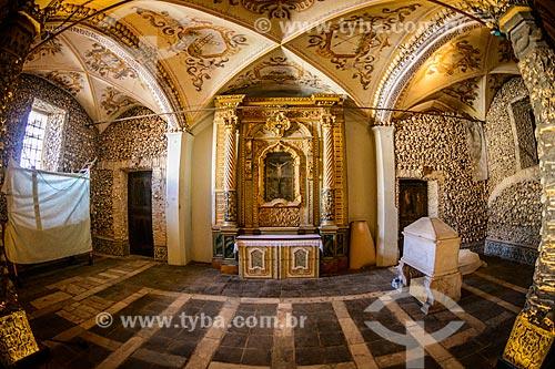 Interior da Capela dos Ossos (Século XVII) - anexo à Igreja de São Francisco  - Concelho de Évora - Distrito de Évora - Portugal