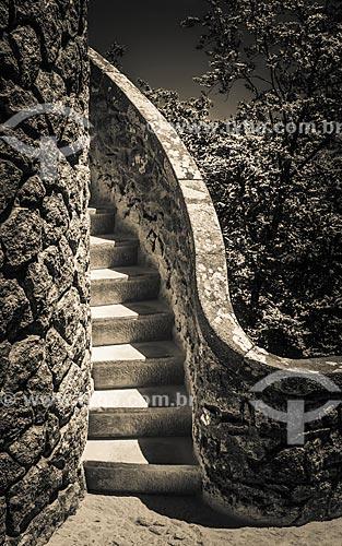 Escadaria da torre na Quinta da Regaleira  - Concelho de Sintra - Distrito de Lisboa - Portugal
