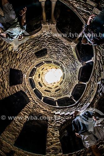 Interior do Poço Iniciático na Quinta da Regaleira  - Concelho de Sintra - Distrito de Lisboa - Portugal
