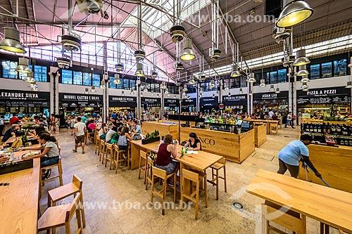 Interior do Mercado da Ribeira  - Lisboa - Distrito de Lisboa - Portugal