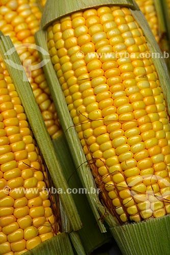 Espigas de milho à venda na feira livre  - Rio de Janeiro - Rio de Janeiro (RJ) - Brasil