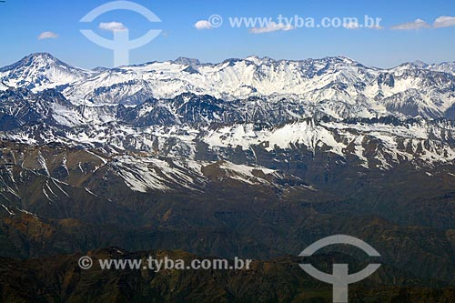 Vista geral da Cordilheira dos Andes  - Chile
