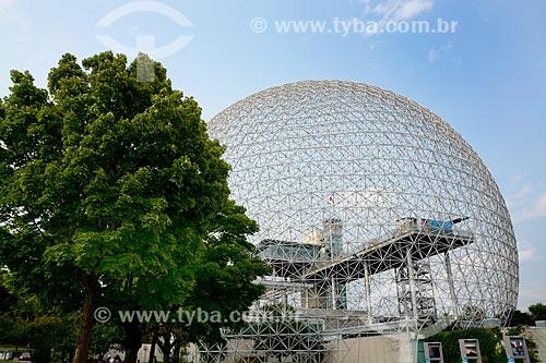 Biosphere (Biosfera de Montreal ou Montreal Biosphère em Francês) - criada para a Feira Mundial de 1967, hoje abriga um museu dedicado ao meio ambiente  - Montreal - Província de Quebec - Canadá