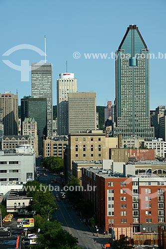 Vista geral dos edifícios no centro de Montreal  - Montreal - Província de Quebec - Canadá