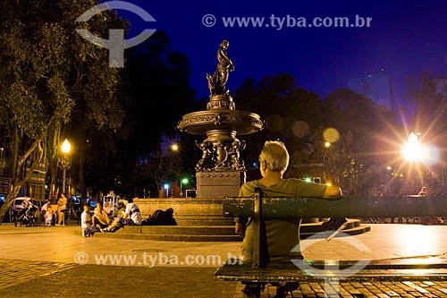Pessoas na Praça São Salvador  - Rio de Janeiro - Rio de Janeiro (RJ) - Brasil