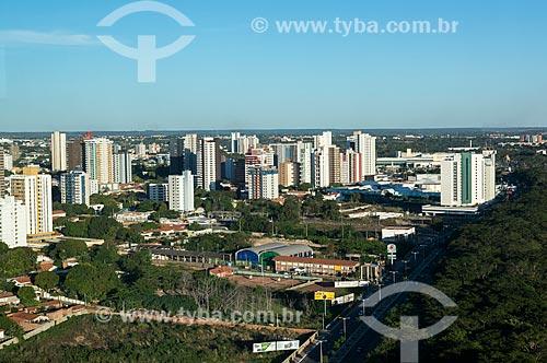 Vista geral da cidade de Teresina com a Avenida Raul Lopes - à direita  - Teresina - Piauí (PI) - Brasil
